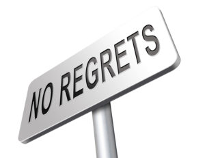 Regret or no regrets saying sorry and offer apologize being asha
